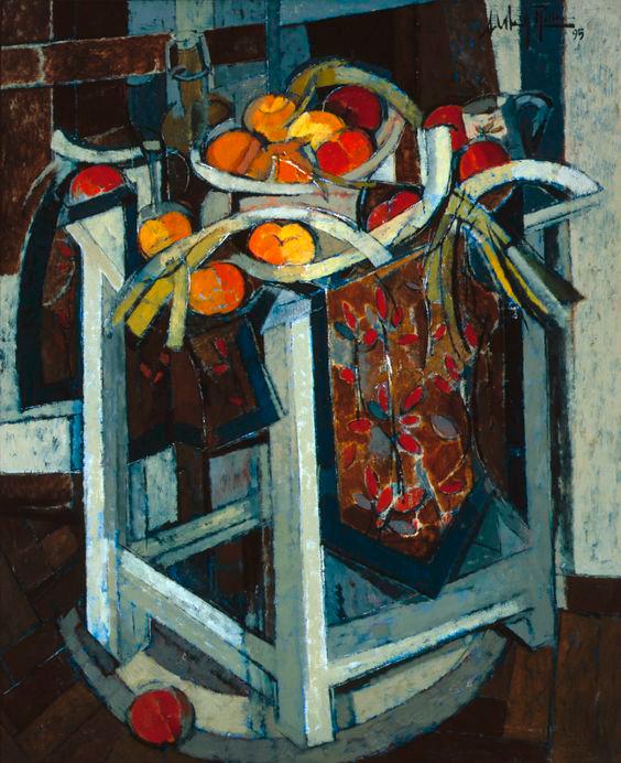 1995-Bodegon-en-la-mesa-Oleo-sobre-lienzo,-100-x-81-cm.-AlfredoRoldan