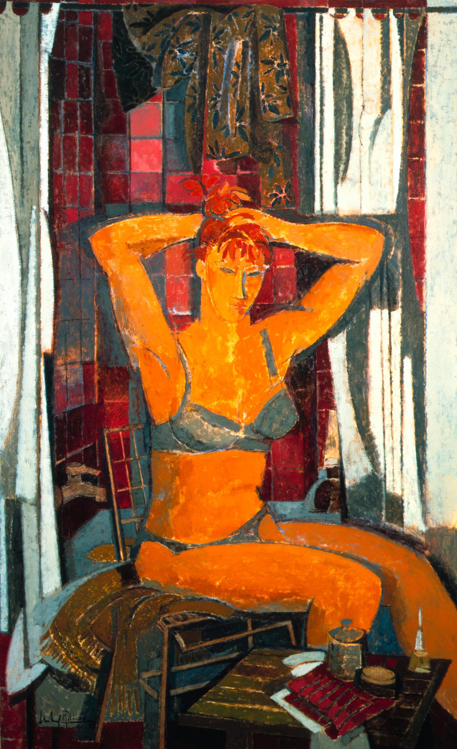 """1997-Alfredo-Roldan-""""Antes-de-la-ducha""""-óleo-sobre-lienzo,-162-x-97-cm-AlfredoRoldan"""
