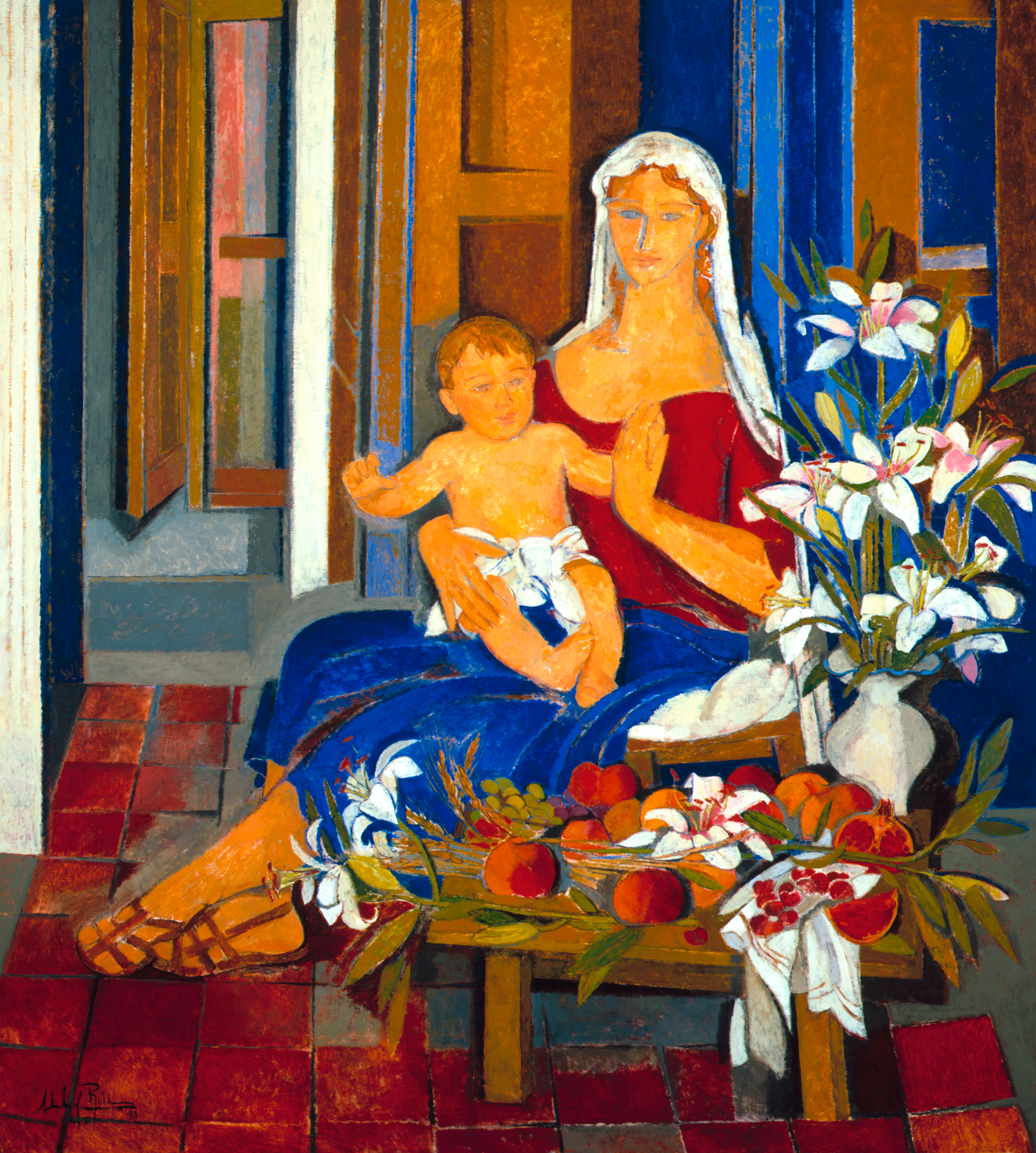 "1998-""Virgen-con-niño""-óleo-sobre-lienzo,-160-x-180-cm.-(2)_AlfredoRoldan"