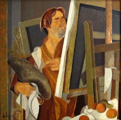 Autorretrato cubista  - 81 x 81 cm. 1994.