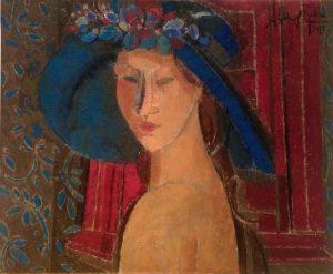 Pamela azul o/l 38 x 46 cm.